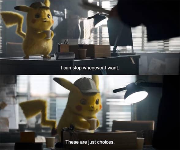 Detective Pikachu meme