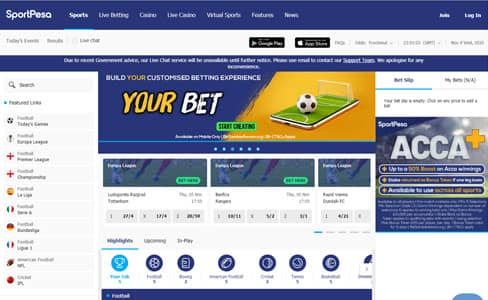 Sport pesa betting options race horse betting