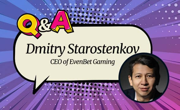 "EvenBet Gaming CEO Dmitry Starostenkov: ""We're very confident that online poker will continue to grow this year."""