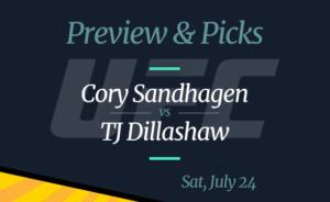 UFC Vegas 32 Cory Sandhagen vs TJ Dillashaw Odds to Win: Picks, Preview, Where to Watch
