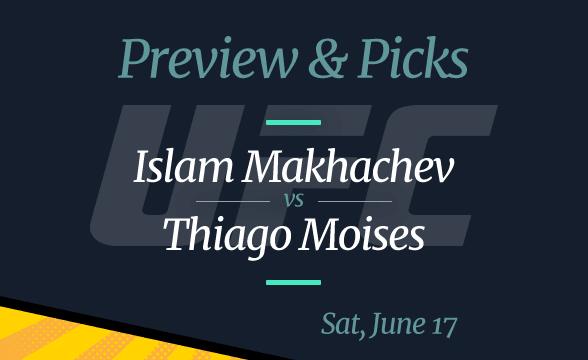 UFC Fight Night: Islam Makhachev vs Thiago Moises Odds, Picks, Where to Watch