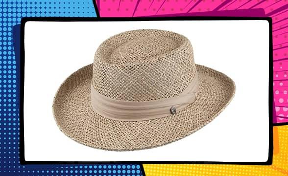 Jaxon Pebble Beach Seagrass Straw Gambler Hat