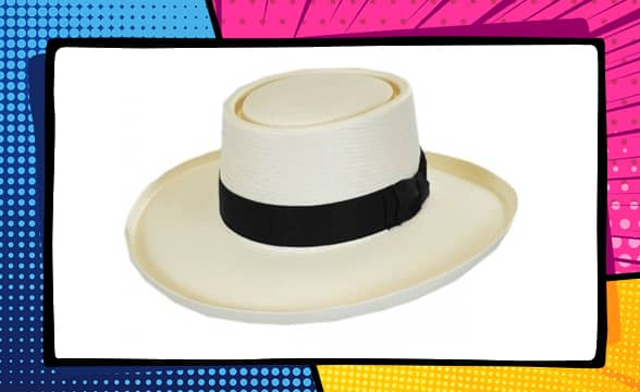 Colonel Shantung Straw Gambler Hat