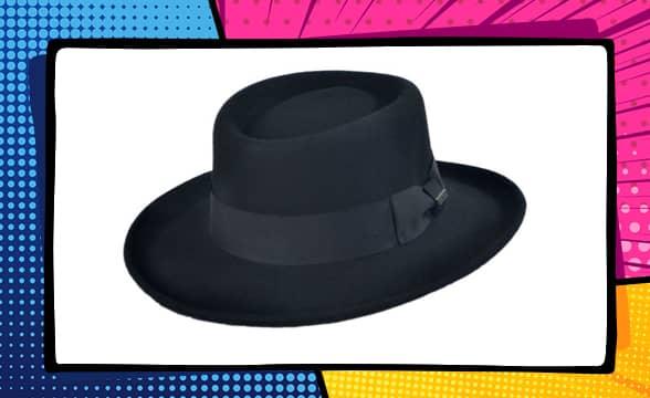 Crushable Wool Felt Gambler Hat