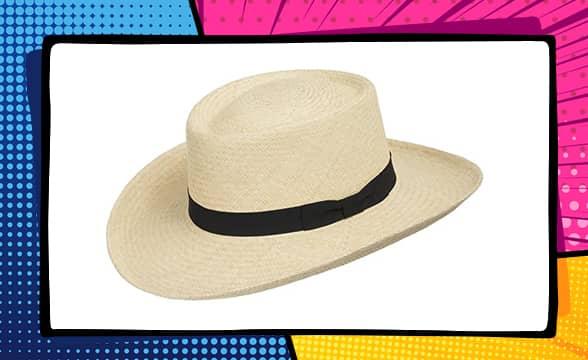 Ultrafino Gambler Woods Panama White Straw Hat Golf Club