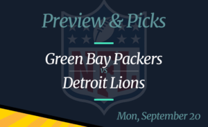 NFL Week 2: Lions vs Packers, Time, Odds