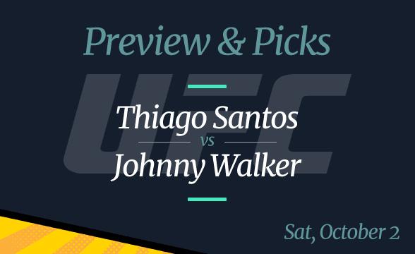 UFC Vegas 38 Thiago Santos vs Johnny Walker Odds, Time, Date, Where to Watch