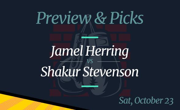 Jamel Herring vs Shakur Stevenson Odds, Picks and Prediction