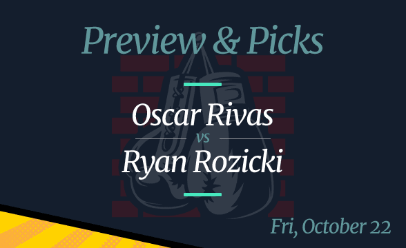 Oscar Rivas vs Ryan Rozicki Odds, Picks and Prediction