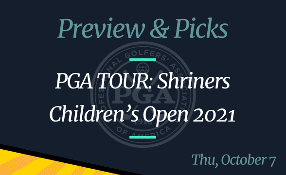 PGA Tour 2021 Shriners Children's Open Odds, Where to Watch and Picks