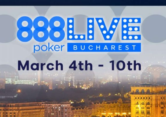 888Live official Bucharest event poster.