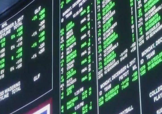 Sports betting in progress in Rhode Island.