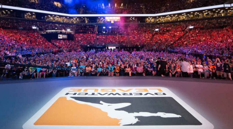 The opening ceremony of Overwatch League 2019.