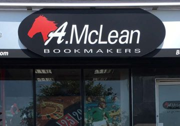 A Mc Lean bookmakers' shop front.