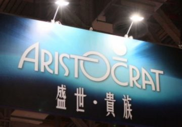 Aristocrat's expo booth.