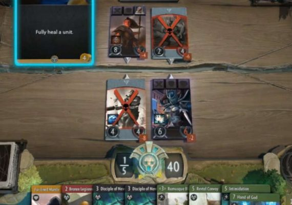 Artifact, the card game.