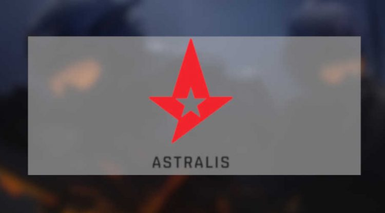 Astrali's team logo and CS:GO squad.