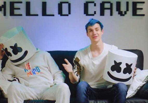 Marshmello and Ninja in the Mello Cave.