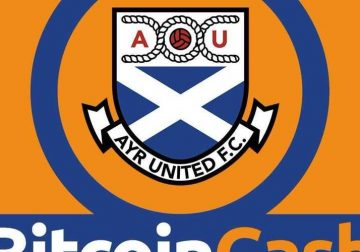 Ayr United logo with Bitcoin Cash