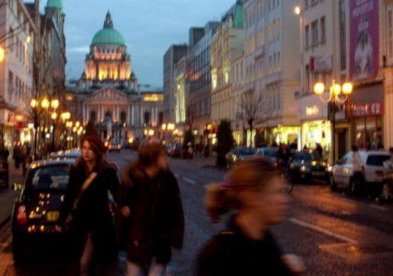 Norther Ireland, Belfast streets.