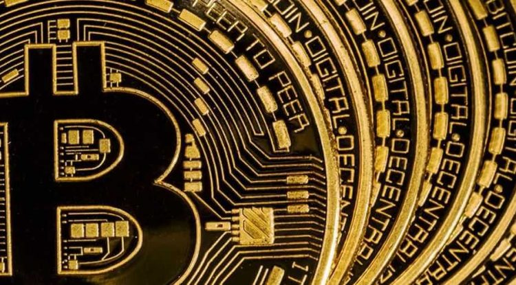 Several Bitcoins in a row.