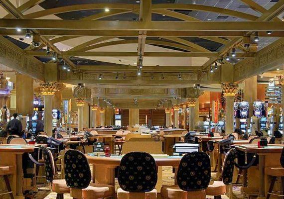 A floor at Caesars casino.