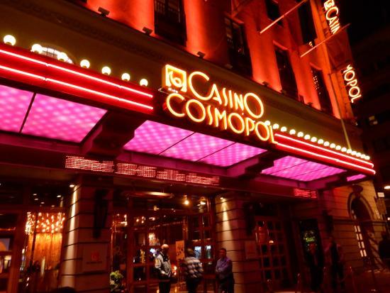 Entrance of Casino Cosmopol.