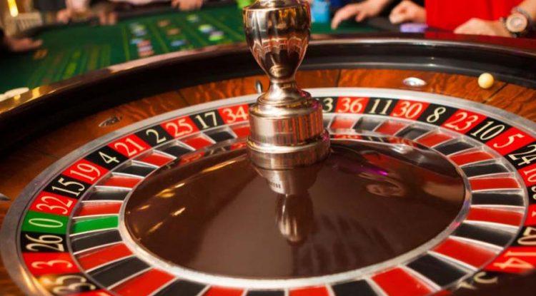 A roulette in a casino.