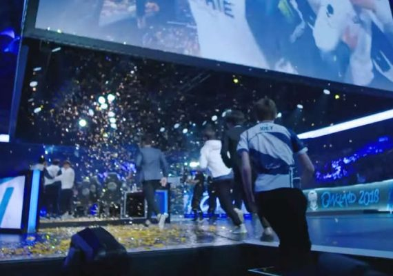 Players at the League of Legends Global Championships.