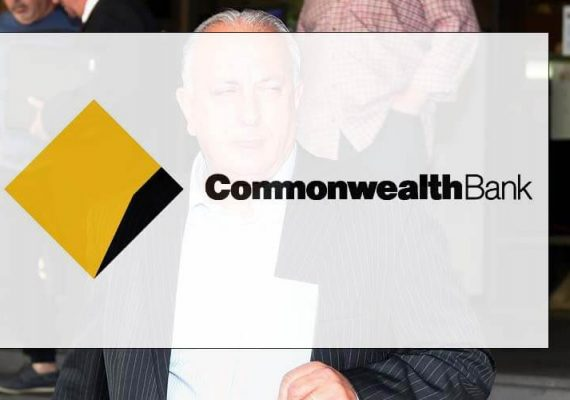 Australia Commonwealth Bank's logo.