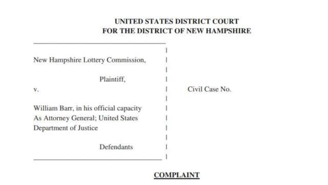 New Hampshire's official complaint against DOJ