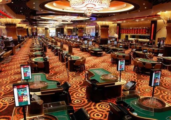 An empty casino floor