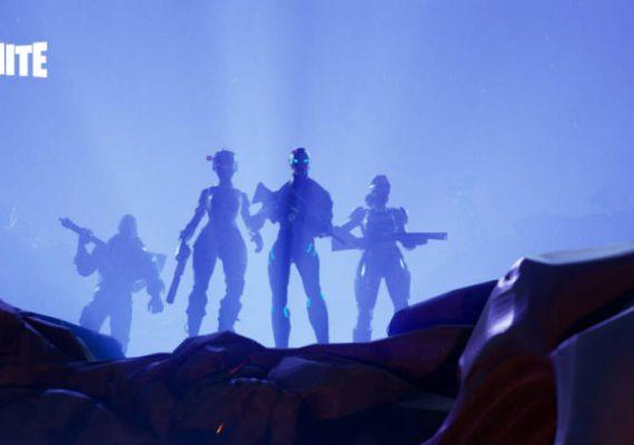 Fortnite avatars in the dusk.