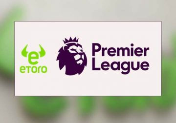 EPL and eToro logos pictured.