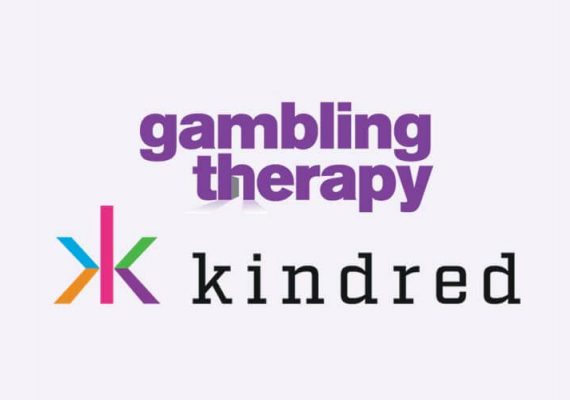 Kindred Group's logo and that of Gambling Therapy