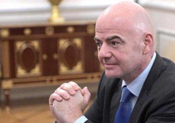 Gianni Infantino at the Kremlin.