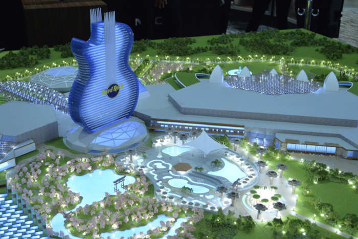 Hard Rock's full-scale model for a proposed IR in Japan.