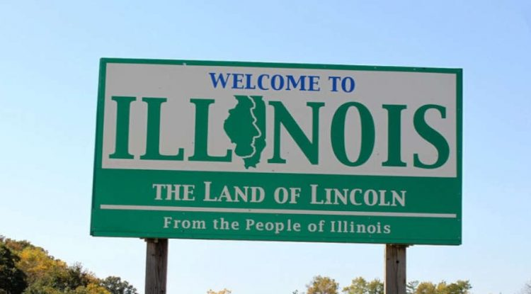 At the state border with Illinois, Land of Lincoln.