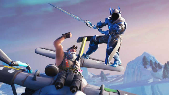 Infinity Blade and official Fortnite art.