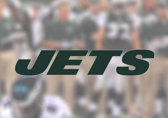 The Jets players and logo displayed.