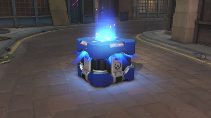 Overwatch loot box opening.