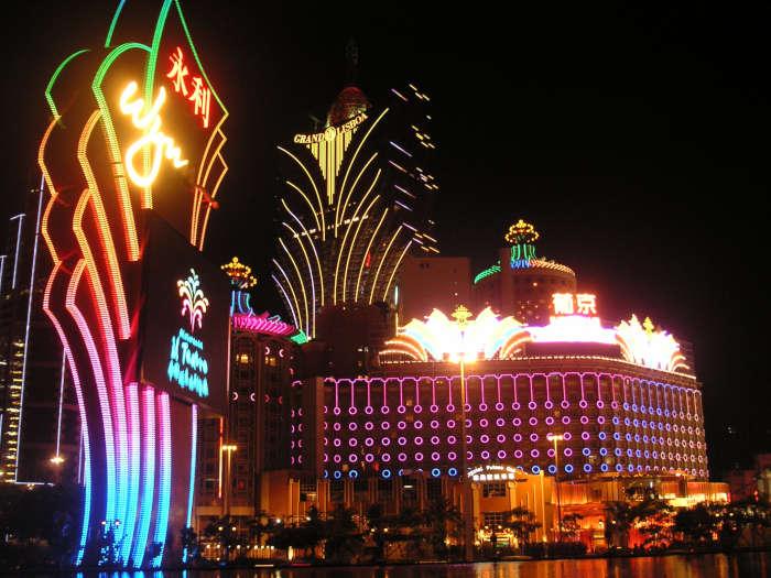 Macau during the night.