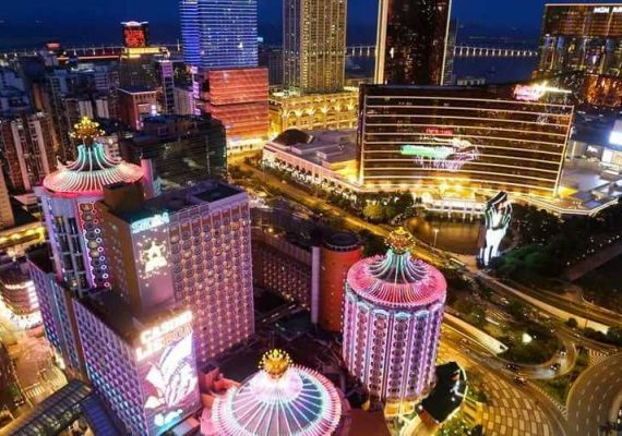 Casinos in the city at night