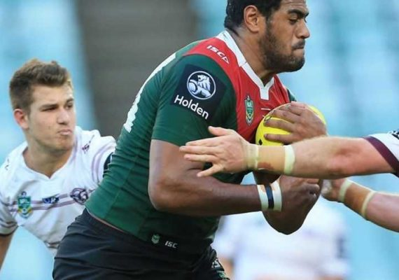 John Mailata playing Australian rugby