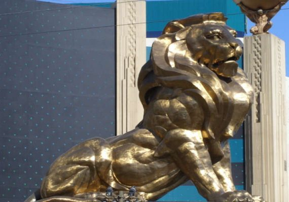 MGM Resorts' iconic lion.