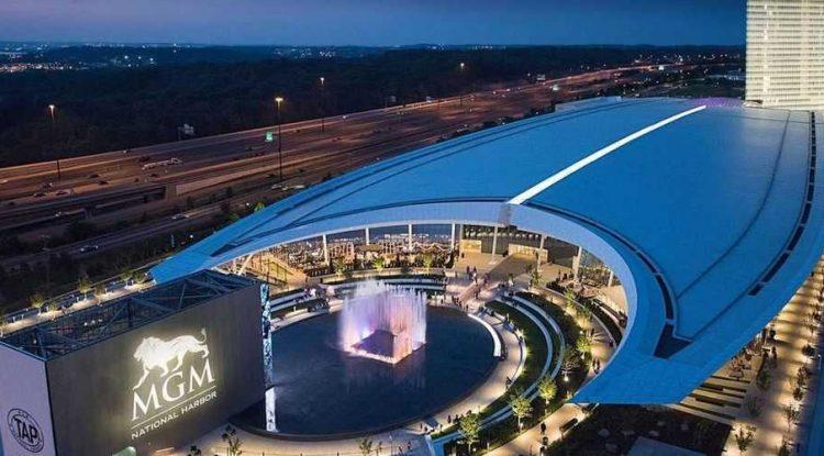 MGM casino at night
