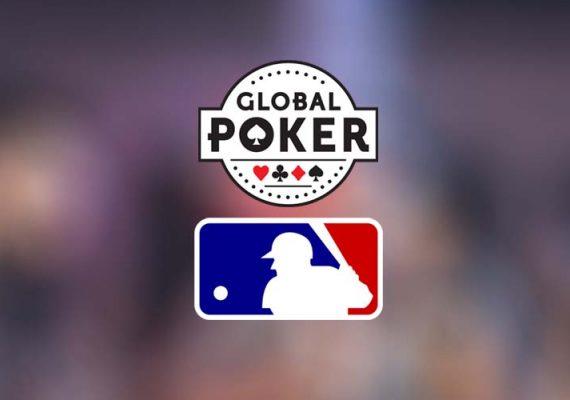 MLB and Global Poker's logos.