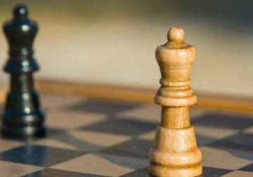 A chess strategy in practice.
