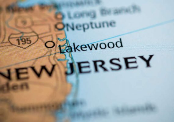 A map of New Jersey.