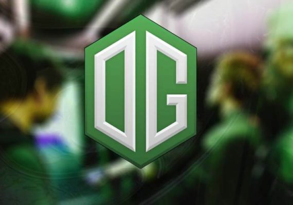 OG's logo and crew at The International 2018.